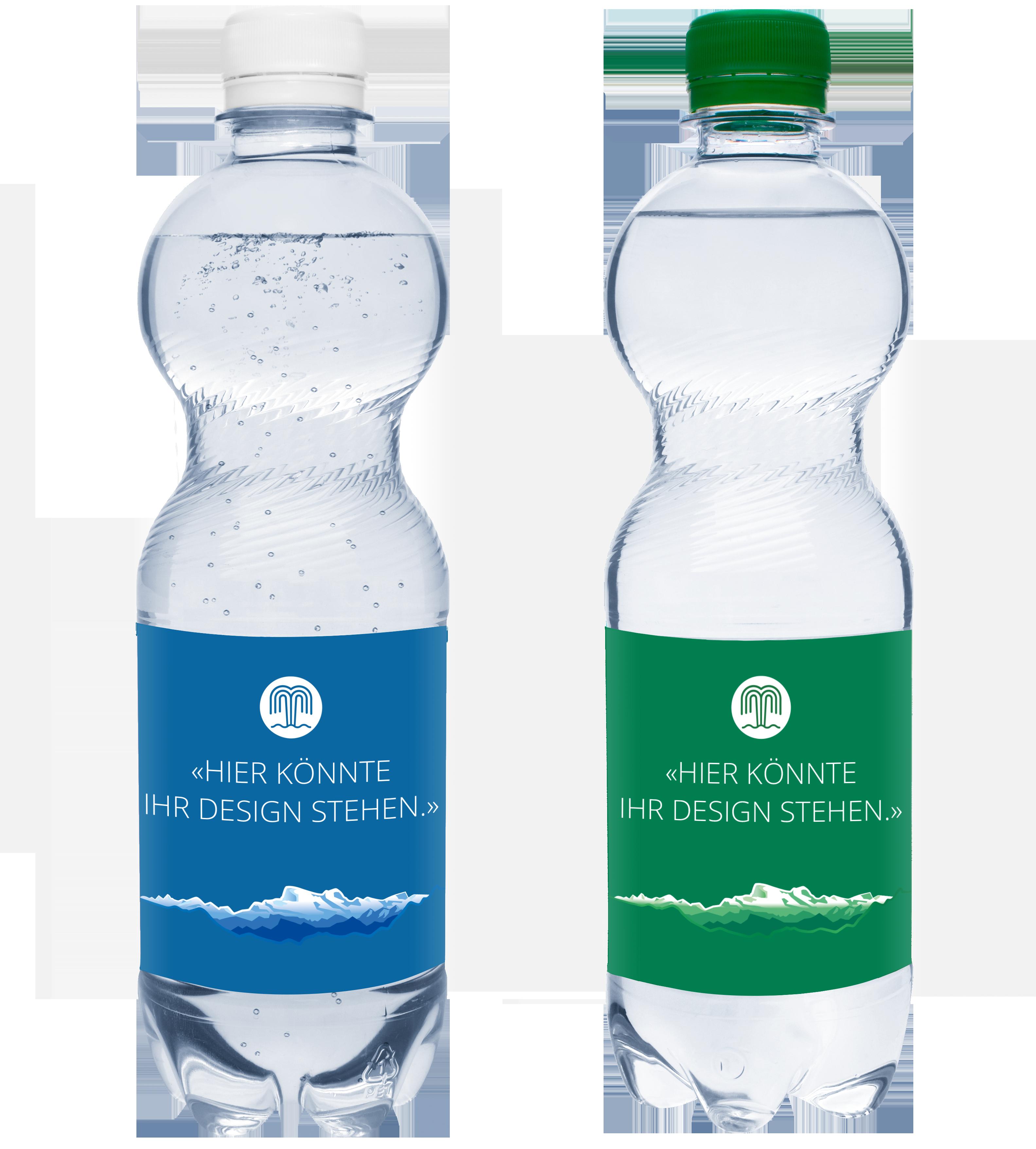 Mineralwasser mit und ohne Kohlensäure